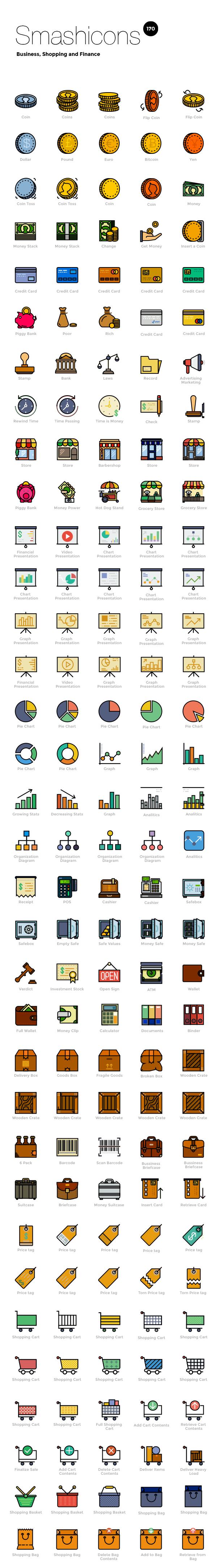 Business Free Retro Icons Set