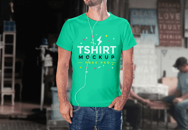 Free T shirt PSD Mockup Template