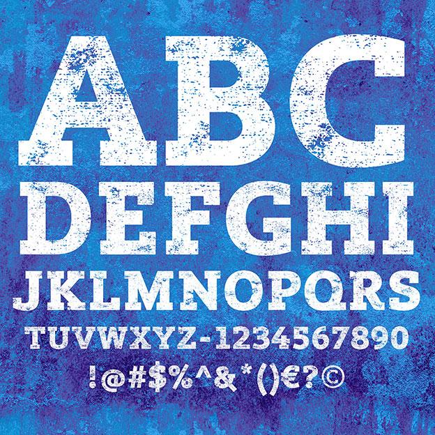 Lev Black Distressed Slab Serif Font