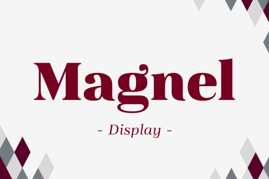 Magnel Free Family Display Typeface