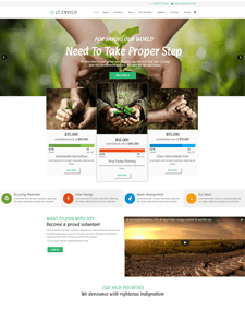 LT Envico Single Page – Free Environmental WordPress Themes