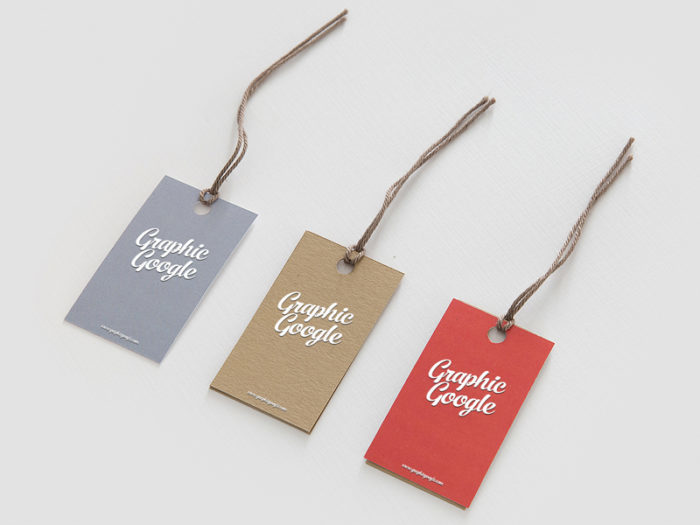 Label Hang Tag Logo Mockup PSD