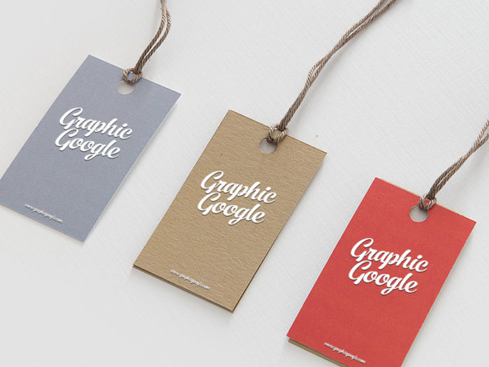 Free Label Hang Tag Logo Mock-up PSD