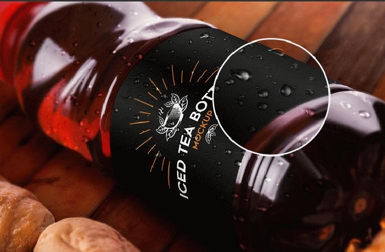 Iced Tea Bottle Mockup Template