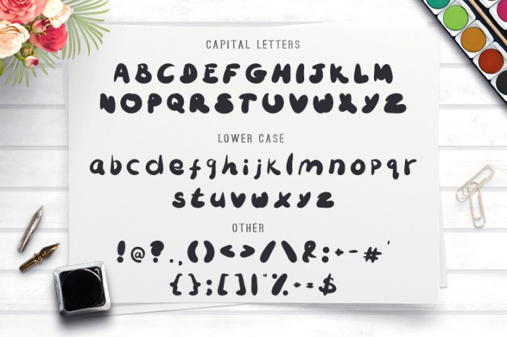 Bubbliest Best Free Typeface