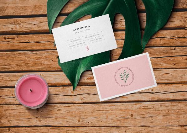 Feminine Free Business Card MockUp