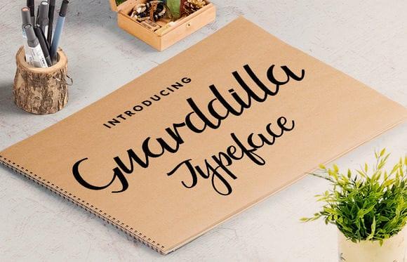Guarddilla Free Calligraphy Typeface