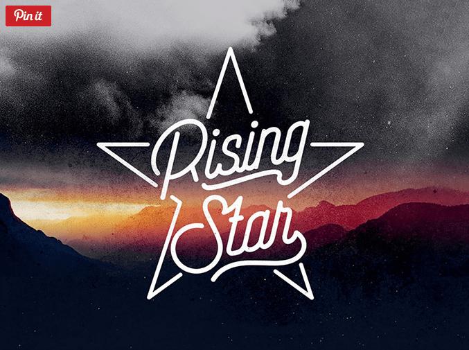 Rising Star – Free Monoline Script Font