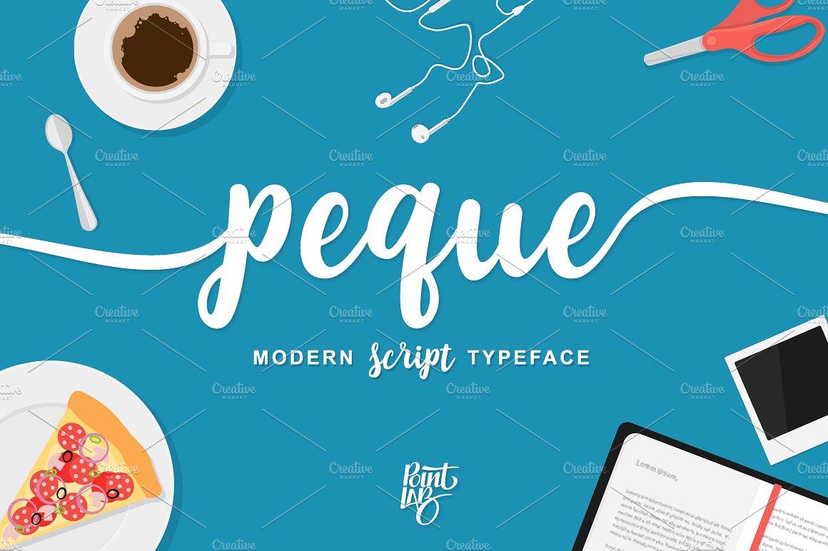 Peque Handmade Calligraphy Font