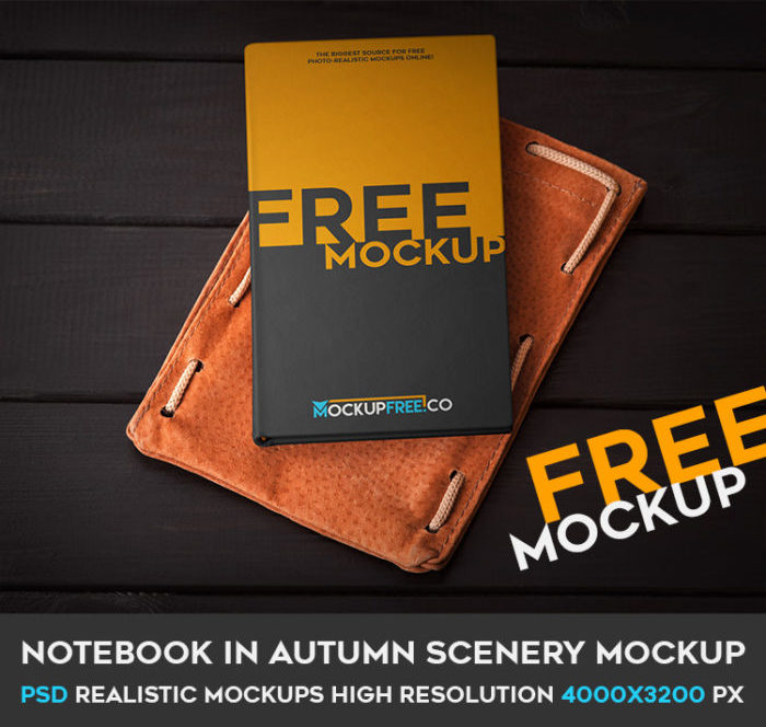 Autumn Scenery Notebook Mockup