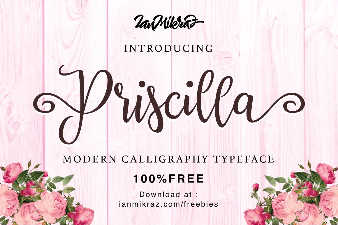Priscilla Script Free Font