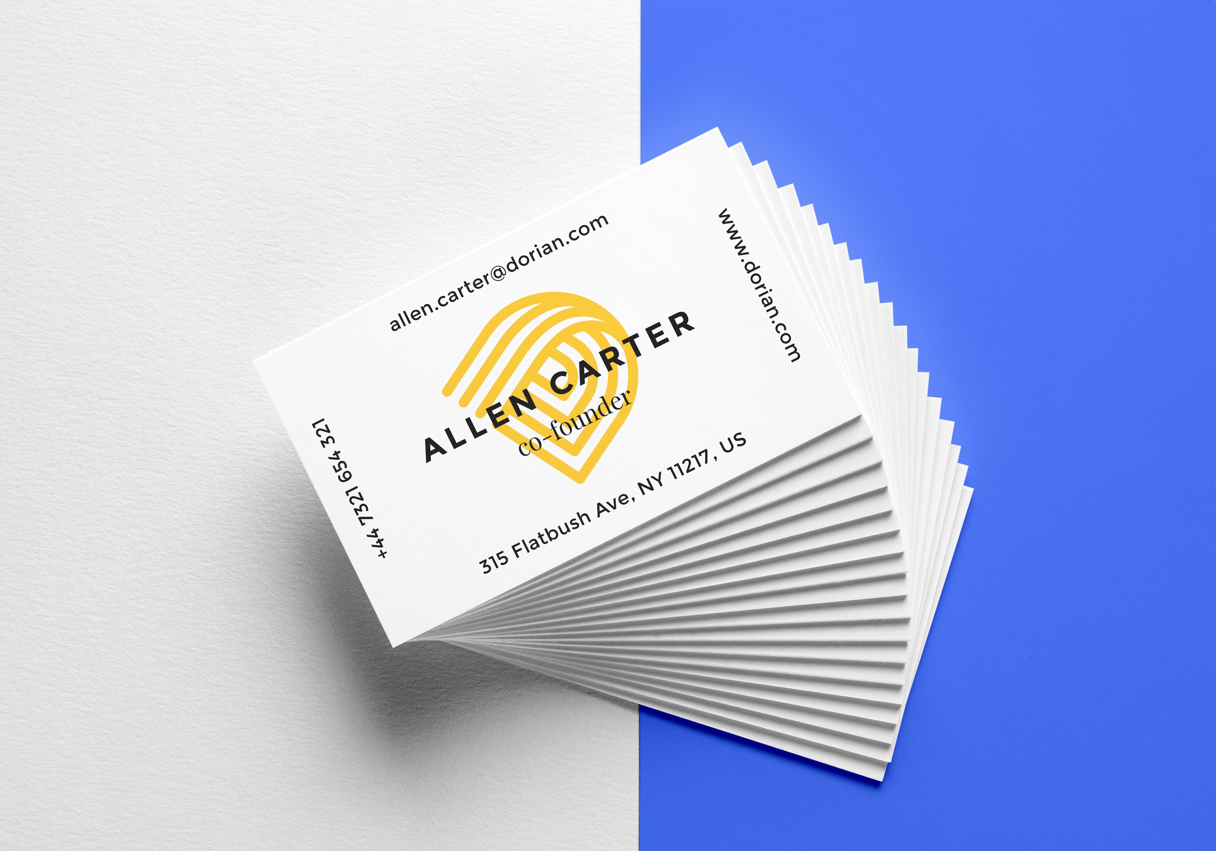 Free Realistic Business Card Mockup Ltheme