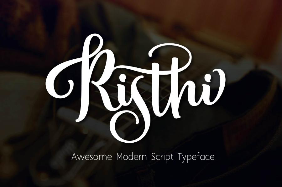 Risthi Free Script Typeface