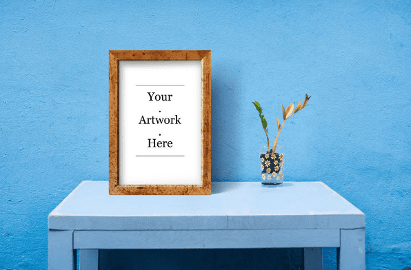 Rustic Wood Frame Free Mockup Templates