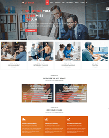 LT Finex – Free Responsive Investment Company / Financial Joomla Template