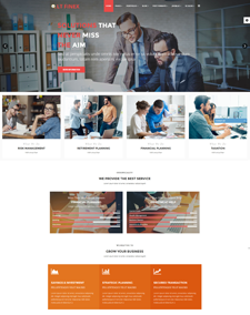LT Finex Onepage – Free Single Page Responsive Investment Company / Financial Joomla template