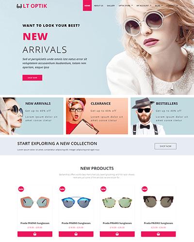 LT Optik – Free Responsive Eye Glasses / Eyewear VirtueMart Joomla template