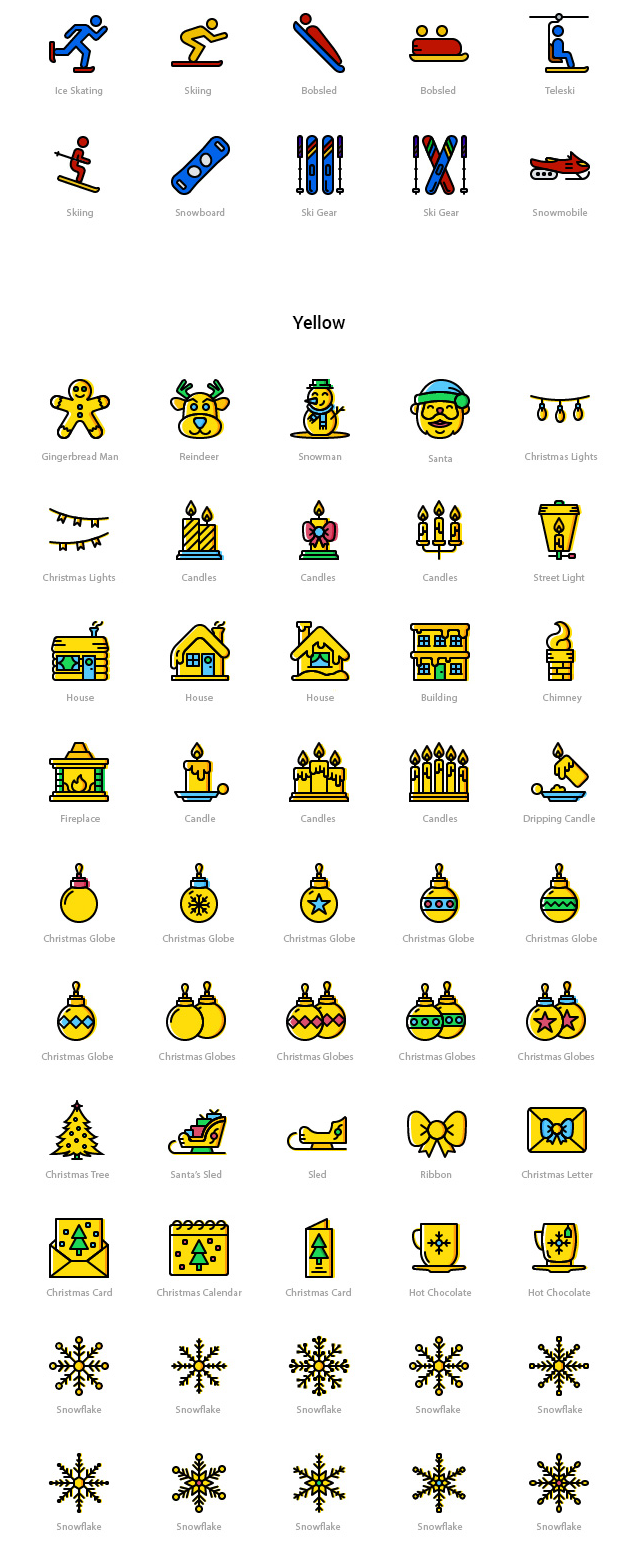 100 Winter Free Icons Download