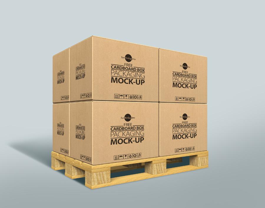 Cardboard Box MockUp Free PSD Template - Responsive Joomla and ...