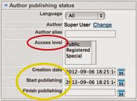 Editing Your Author Publishing Status