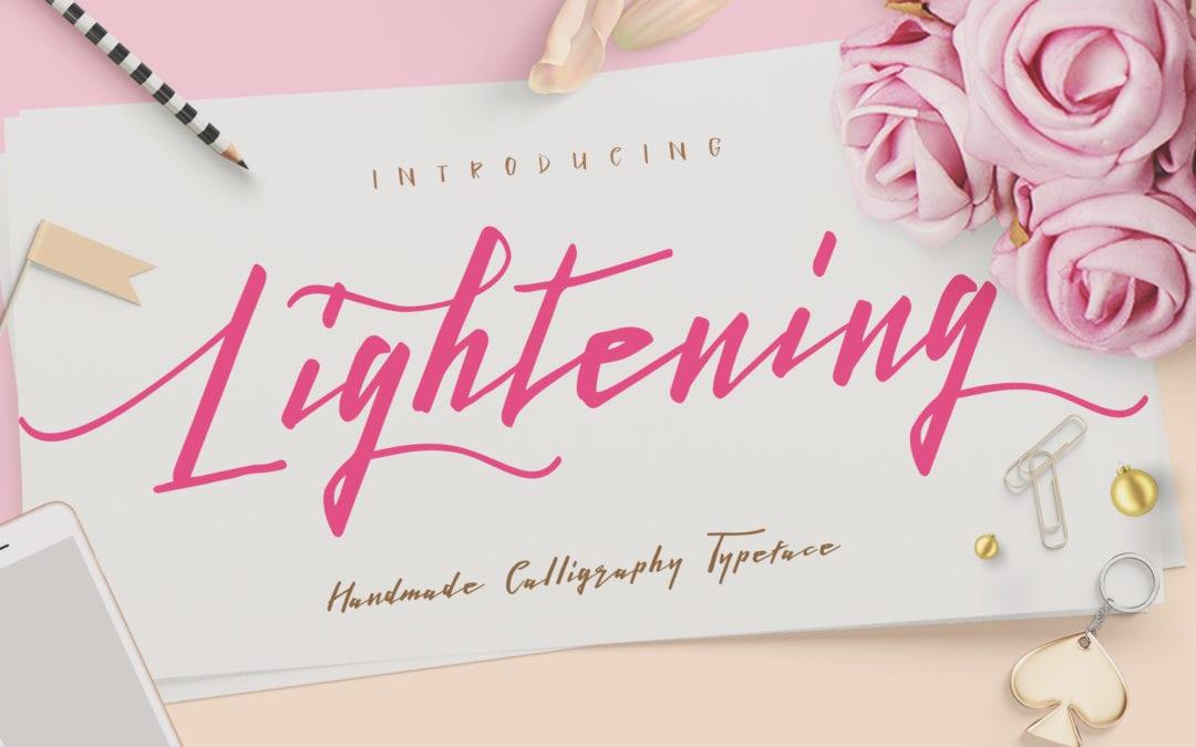 Lightening Script Free Font