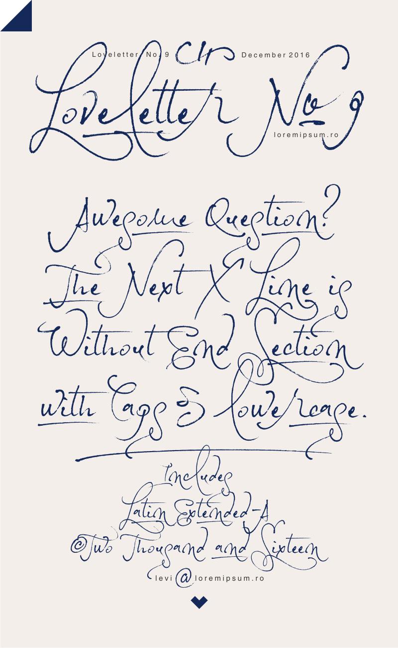 Loveletter No. 9 Free Font Download
