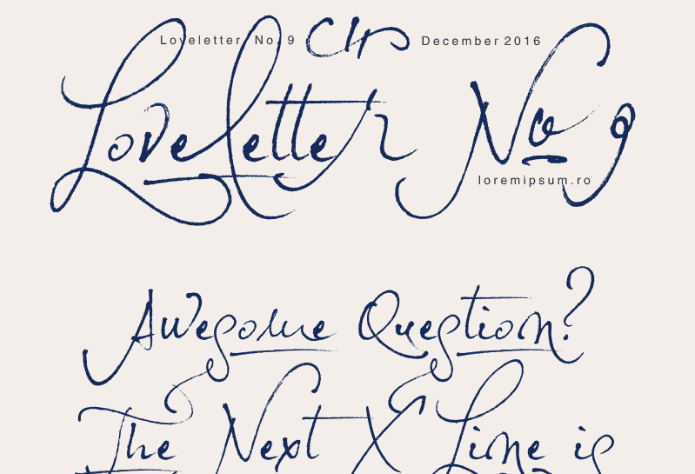 Loveletter No. 9 Free Font Download