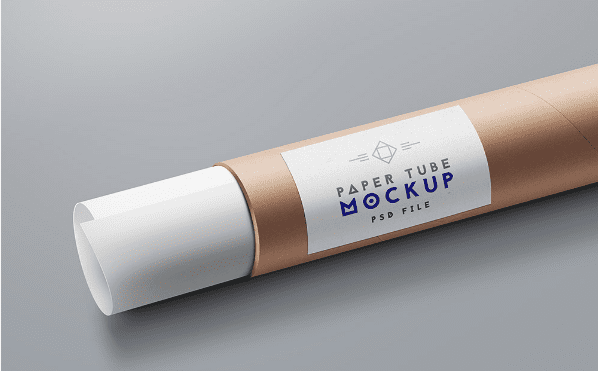 Paper Tube Packaging Mockup PSD Template