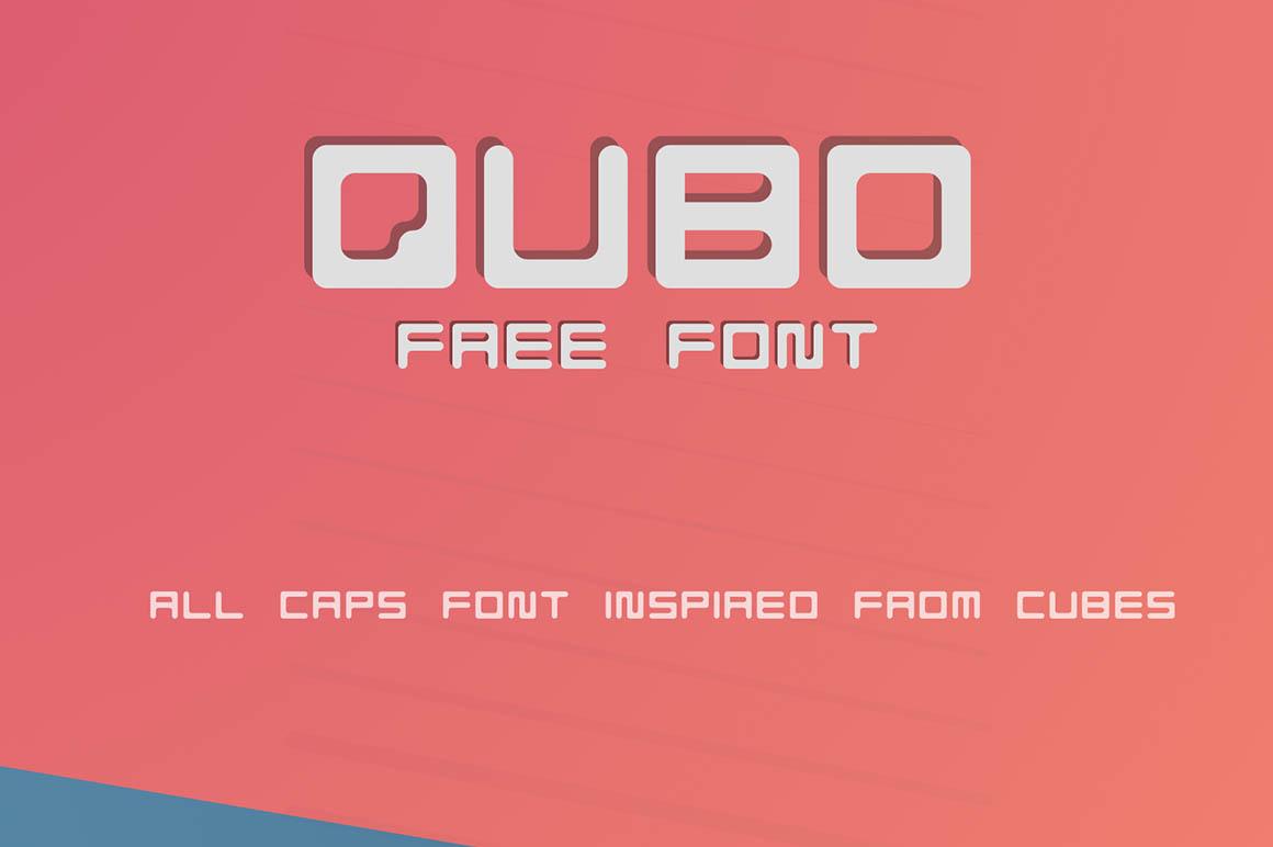 QUBO Geometric Free Font