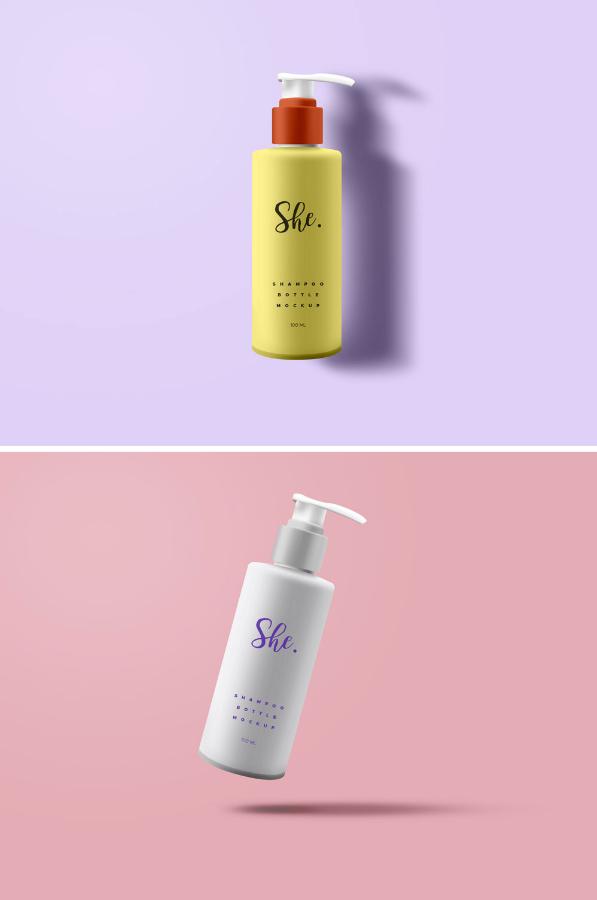 Shampoo Bottle Free Packaging MockUp