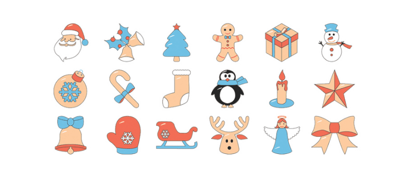 Set Of 18 Free Christmas Icons