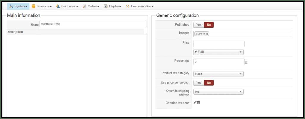 shipping methods in HikaShop
