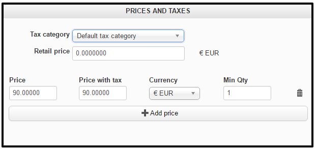prices and taxes in HikaShop
