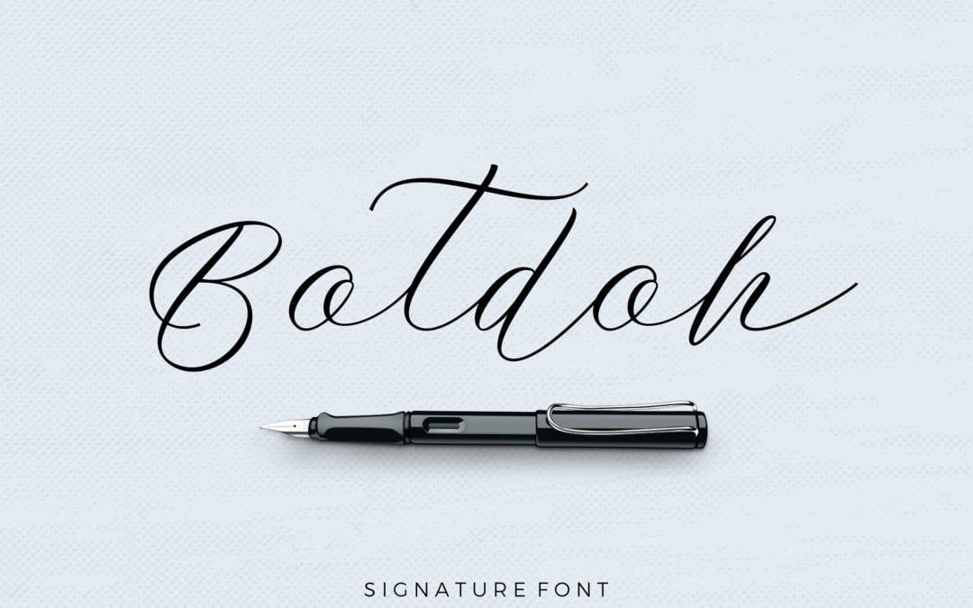 Botdoh Script Typeface