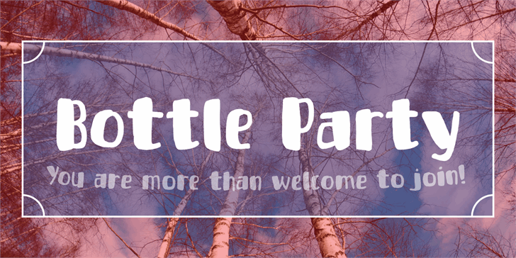 Bottle Party Free Typeface