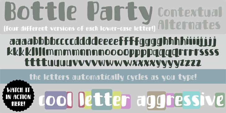 Bottle Party Free Typeface
