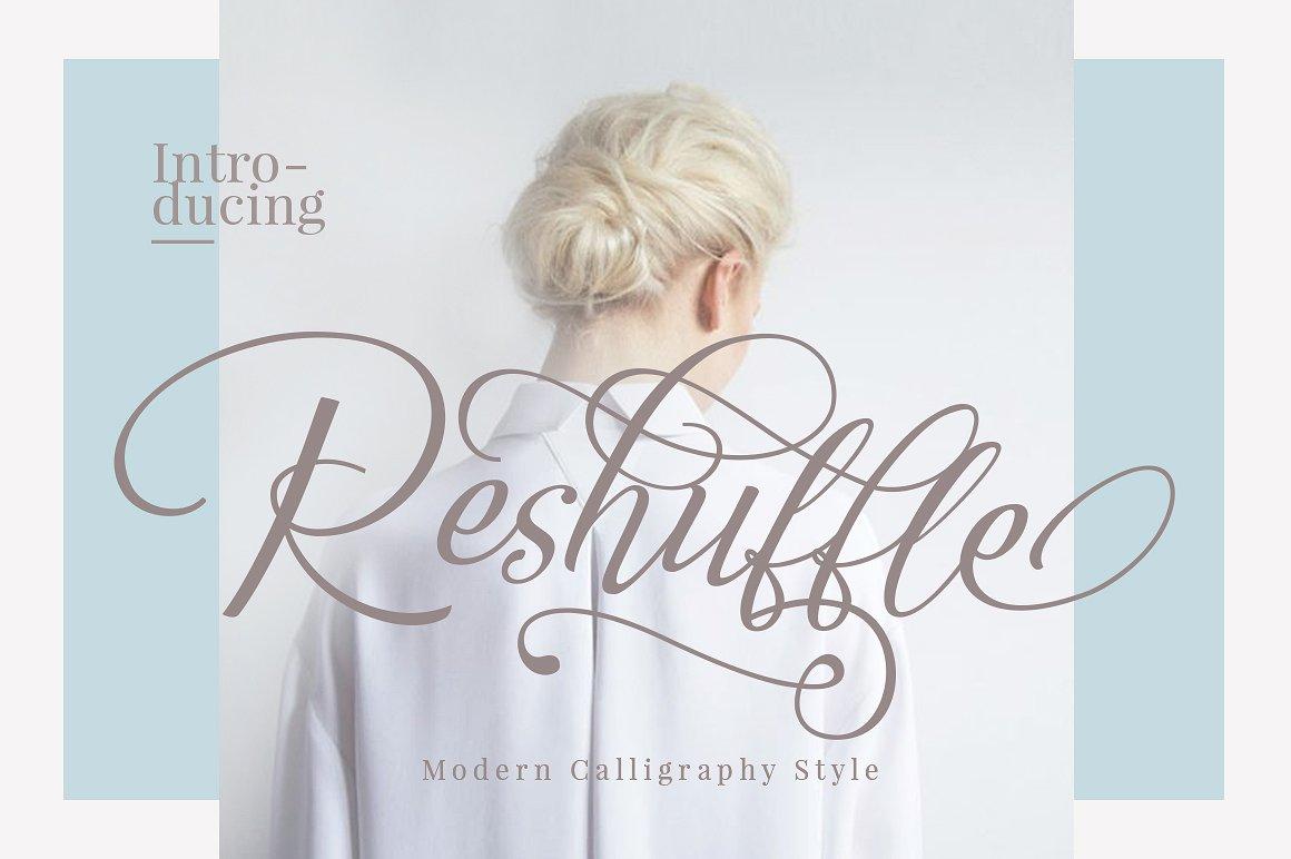 Reshuffle Script Free Font Download 1