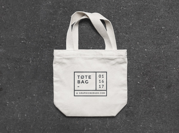 Small Canvas Tote Bag Free MockUp Template