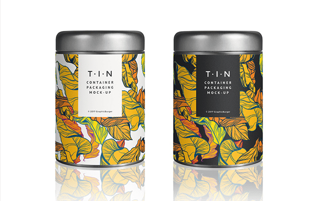 Tin Container Packaging MockUp Templates