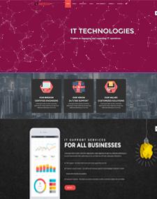 LT Inteco Onepage – Free Single Page Responsive IT Company Joomla template