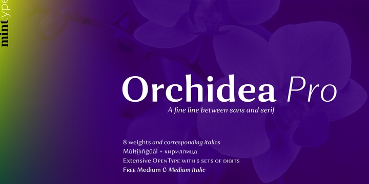 Orchidea Pro Free Family Font