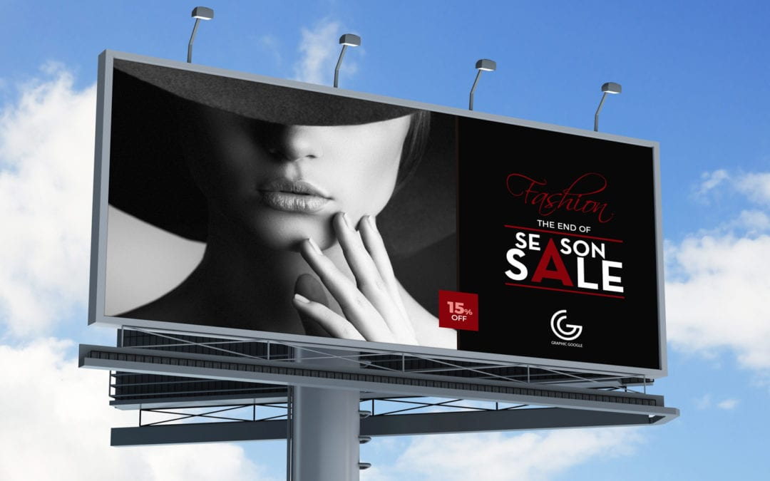 Outdoor Advertisement Hoarding – Billboard Free MockUp