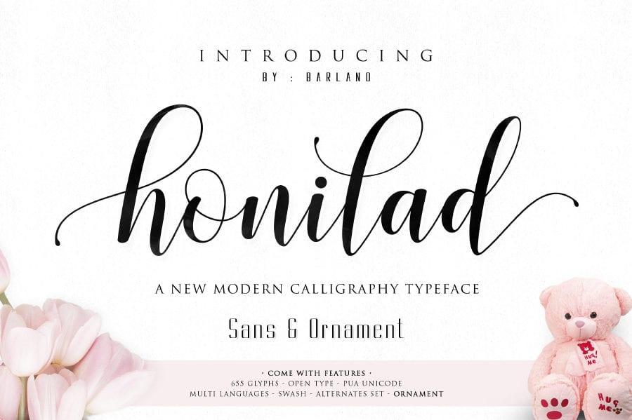 Free Script Typeface – Honilad