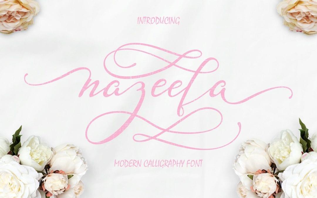 Nazeefa – Modern Free Script Typeface