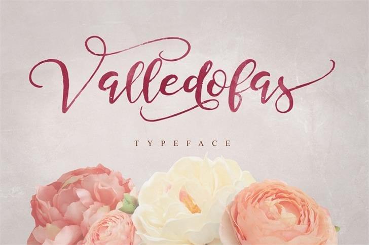 Valledofas Free Script Typeface