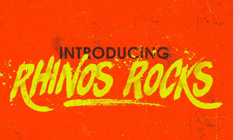 Rhinos Focks Brush Typeface