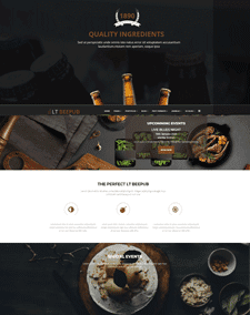 LT Beepub Single Page – Free Bistro WordPress Theme