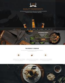 LT BeePub Onepage – Free Single Page Responsive Bar / Bistro Joomla template