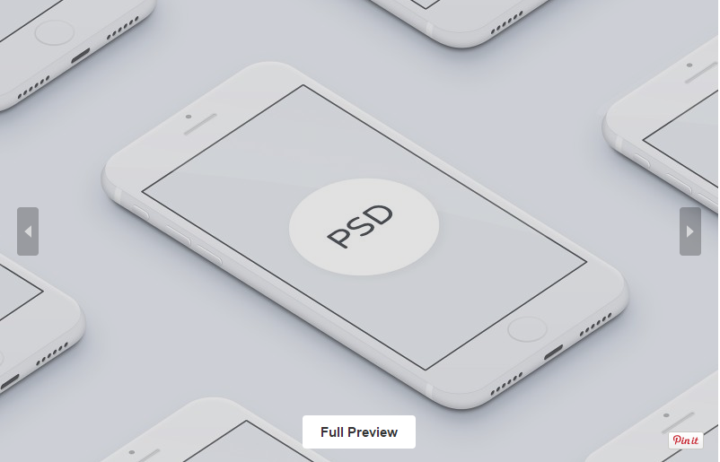 3D White Free iPhone MockUp