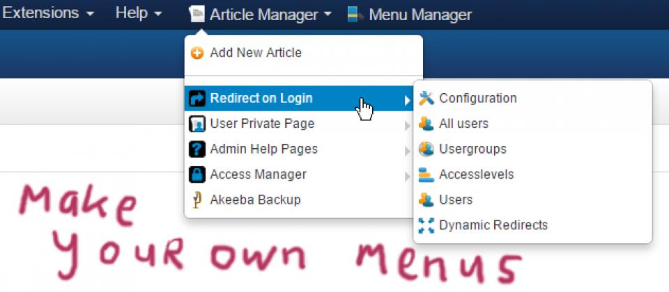 Admin Menu Manager